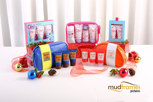 Guardian Ola! and bath travel set body care range product photography for 2013 Christmas catalogue