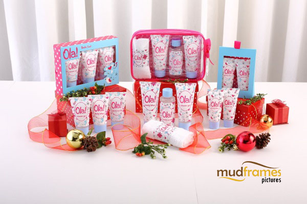 Guardian Ola! body care range product photography for 2013 Christmas catalogue