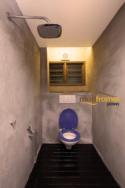 Interior photography of powder room at Mudframes boutique SOHO photography studio in PJ