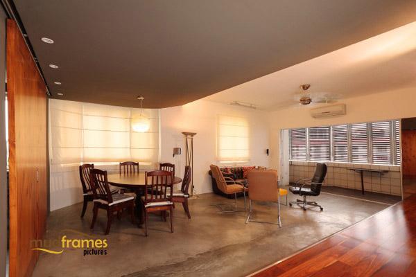 Interior photography of condo living room