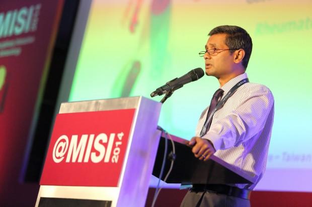 Prof Dr Sanjiv Mahadeva addressing MISI 2014