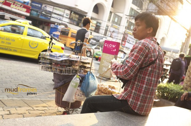 A hawker at Bangkok, Thailand