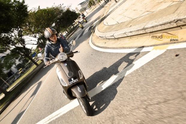 A vespa scooter at Putrajaya