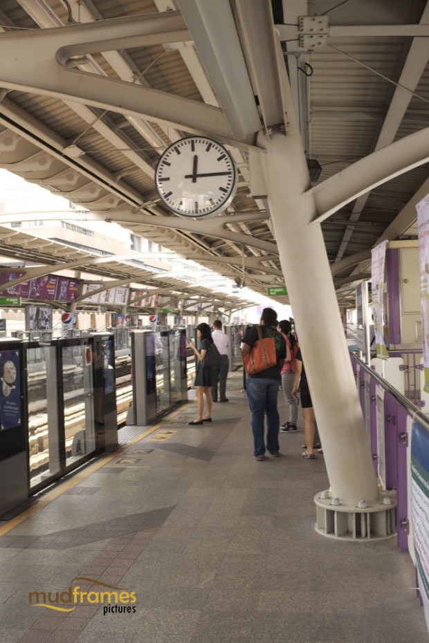 BTS Skytrain station at Bangkok, Thailand