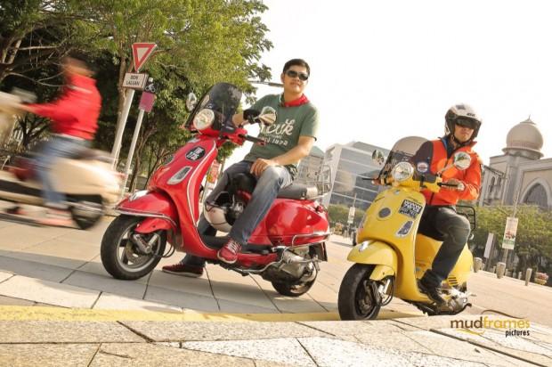 Vespa scooters at Putrajaya