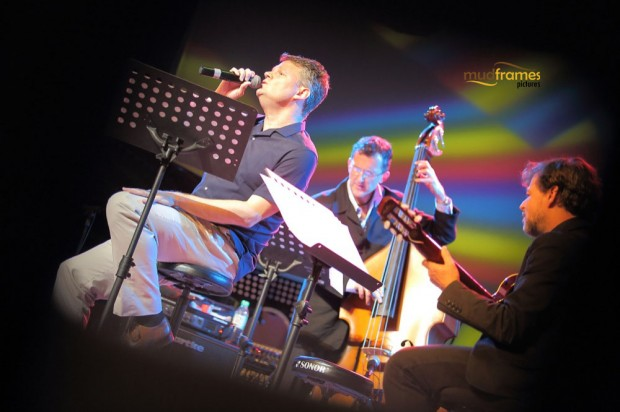 David Tughan performing at KL International Jazz Festival 2014 at University Malaya's Experimental Theatre