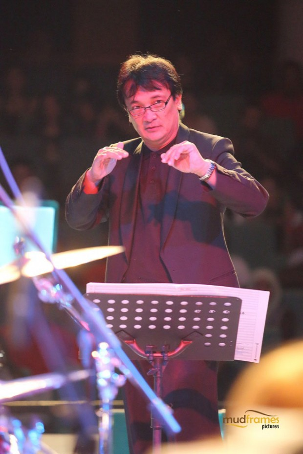 Dr. Mohd. Nasir Hashim conducting the UM Big Band Orchestra during the KL International Jazz Festival 2014 at University Malaya's Experimental Theatre