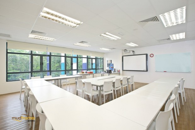 An empty classroom at the British International School of Kuala Lumpur