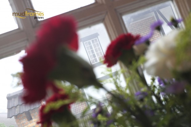 Fresh Flowers by the window at the Ye Olde Smokehouse Hotel in Fraser's Hill