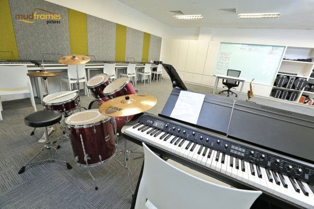 Music room at the British International School of Kuala Lumpur