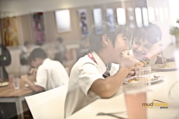 Students at the cafeteria of the British International School of Kuala Lumpur