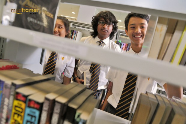 Students at the library of the British International School of Kuala Lumpur
