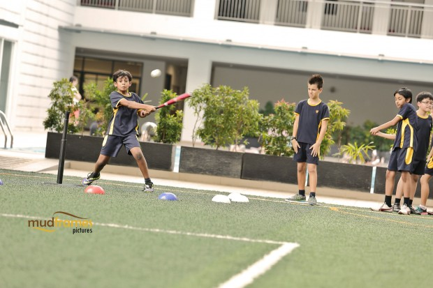 Students playing at the Astro Turf of the British International School of Kuala Lumpur