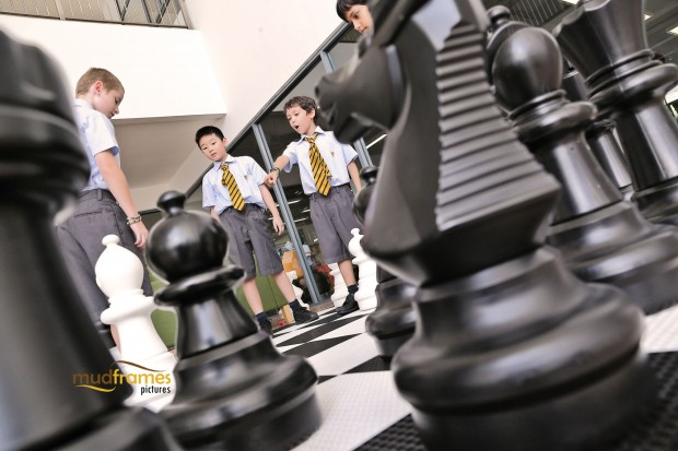 Students playing chess at the British International School of Kuala Lumpur