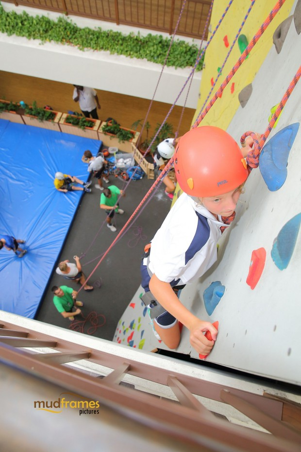 Students wall climbing at the British International School of Kuala Lumpur