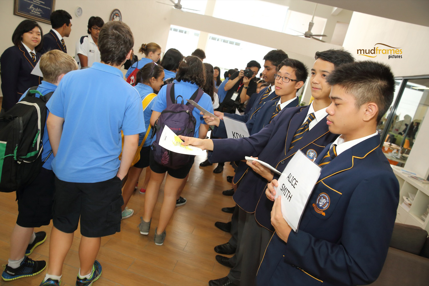 Arrival of students in BSKL