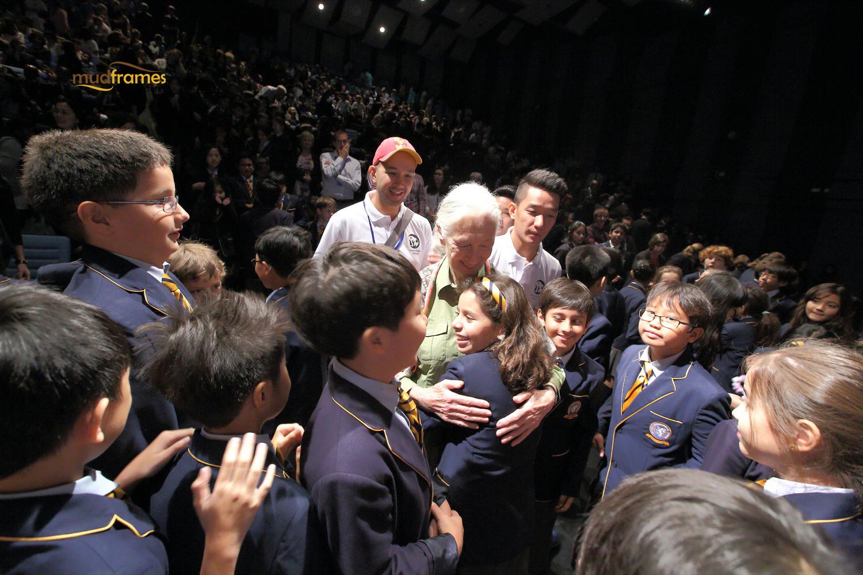 Jane Goodall meets students at BSKL, Malaysia