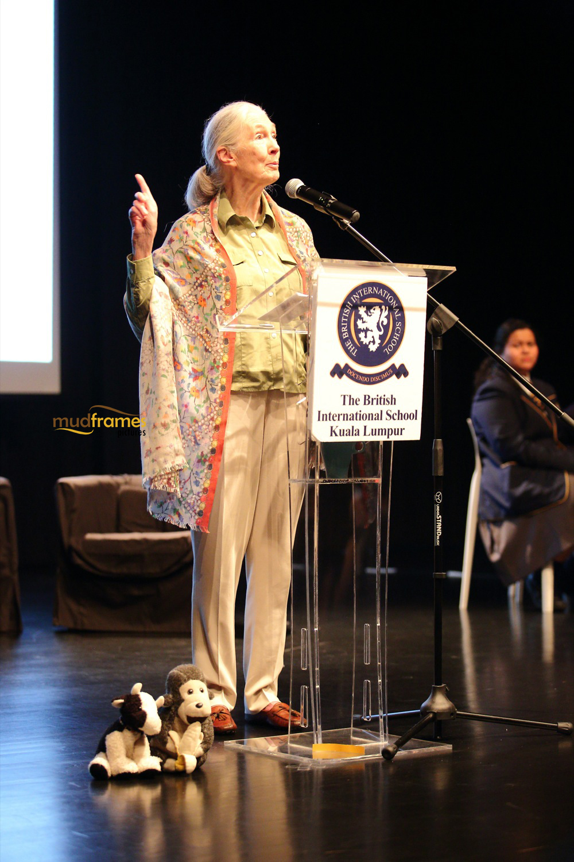 Jane Goodall speaks at BSKL, Malaysia