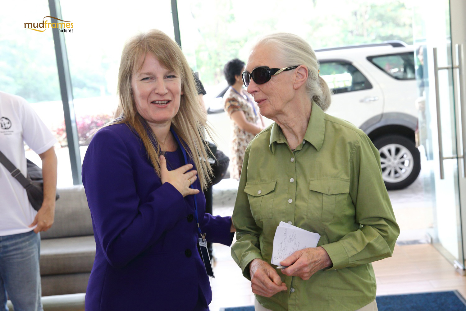Janet Brock with Jane Goodall in BSKL