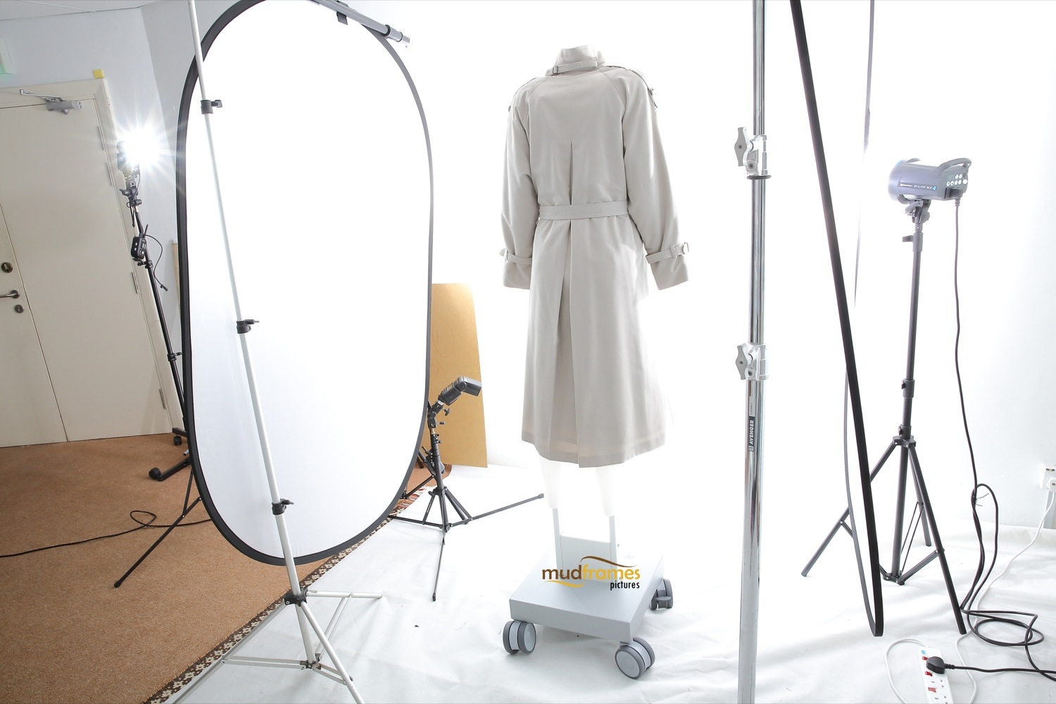 BTS: Invisible ghost mannequin style clothing photography on white background