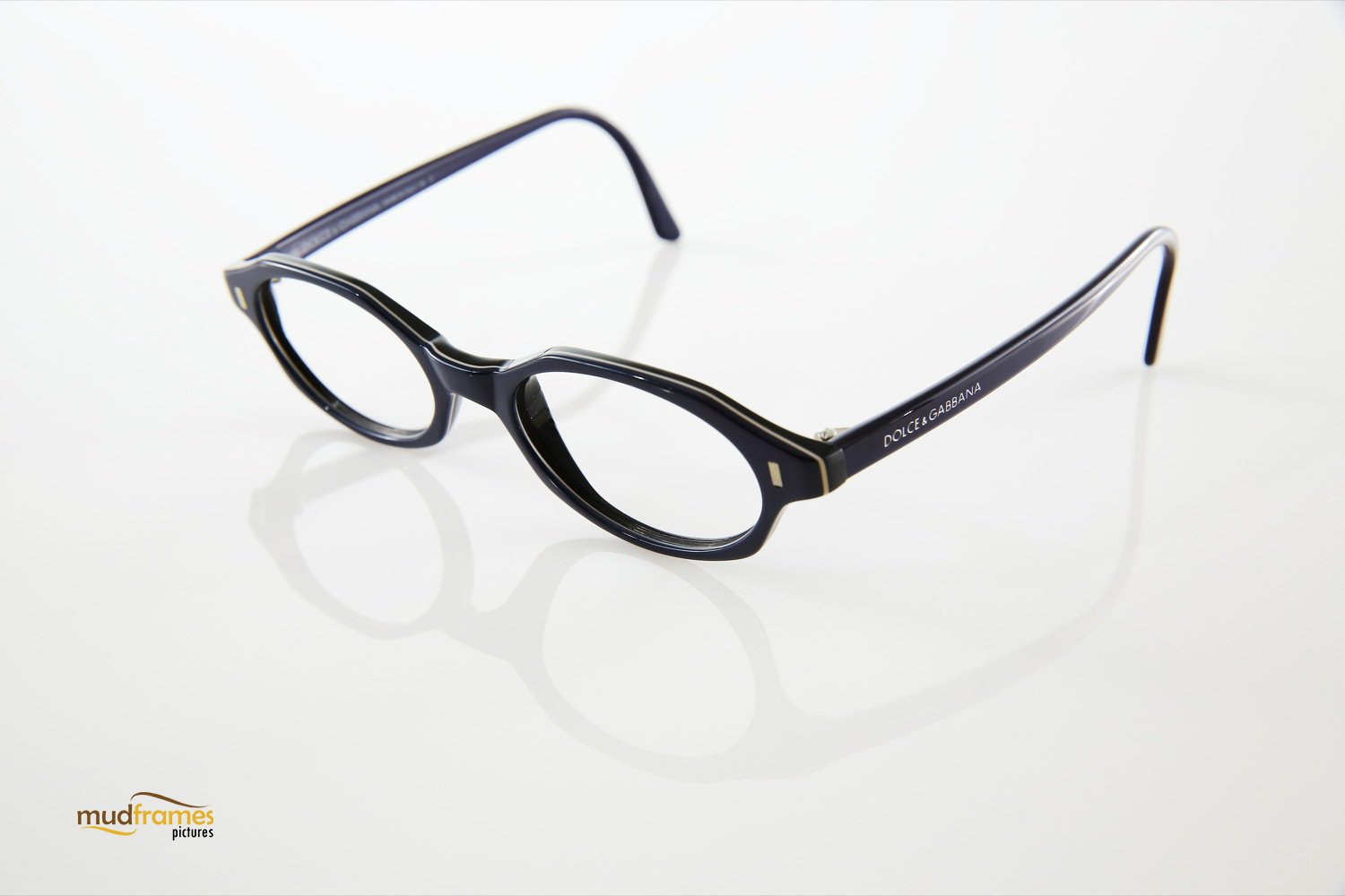 Dolce & Gabbana spectacles on white background