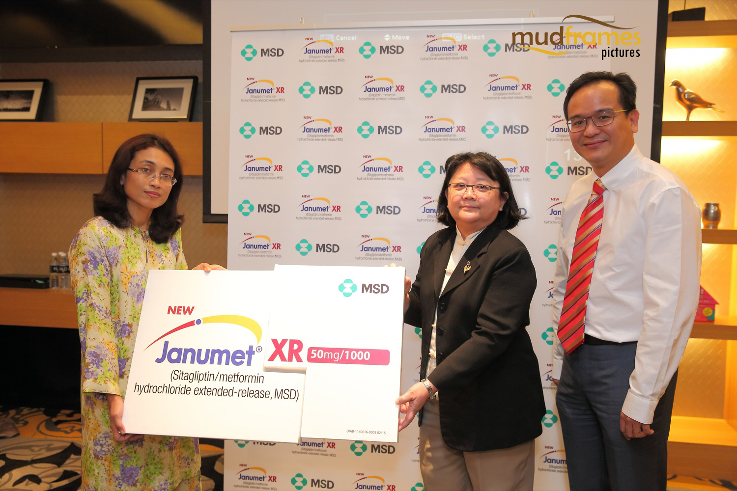 Dr Zanariah Hussein and Prof Chan Siew Pheng launching Janumet XR in Malaysia