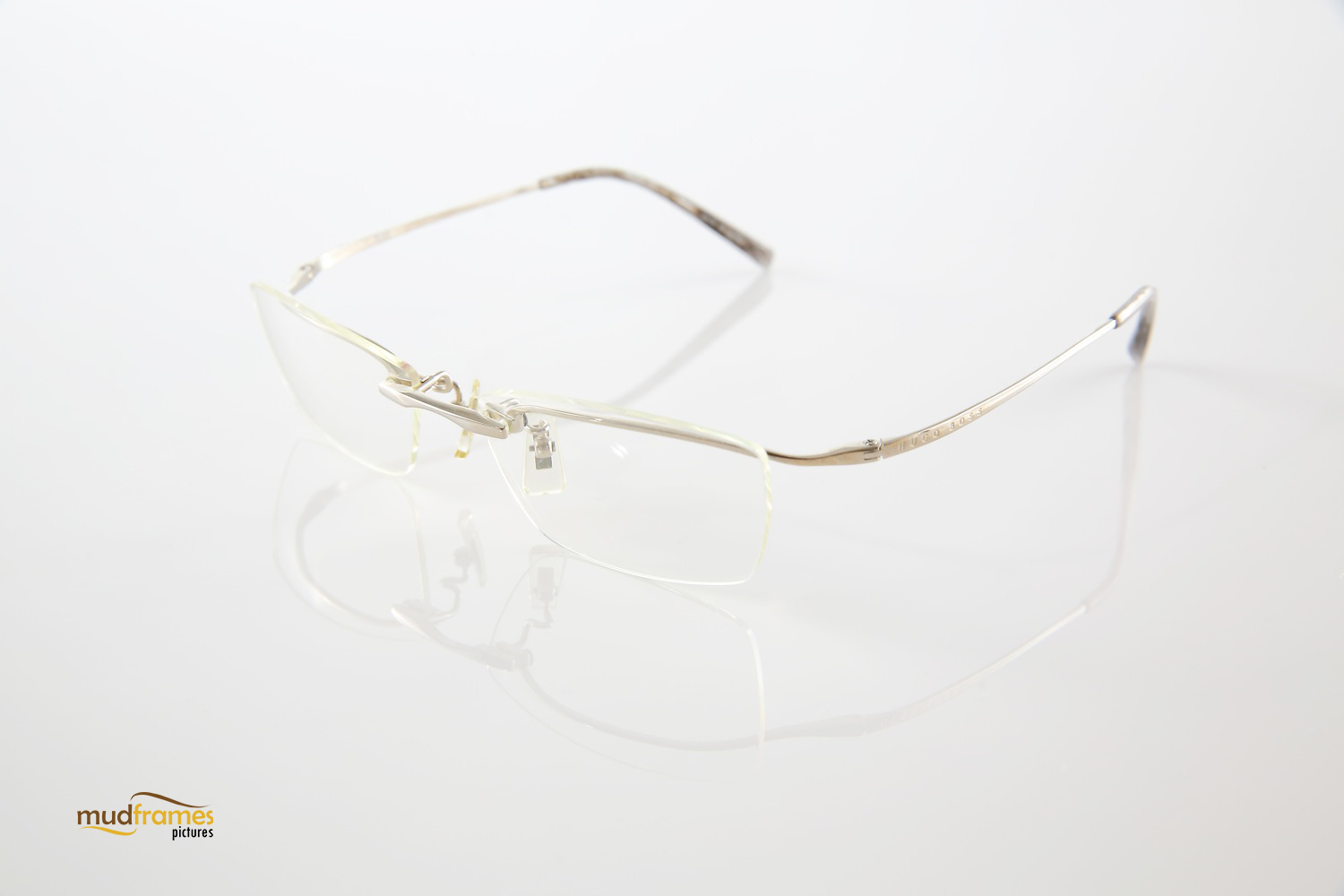 Hugo boss spectacles on white background