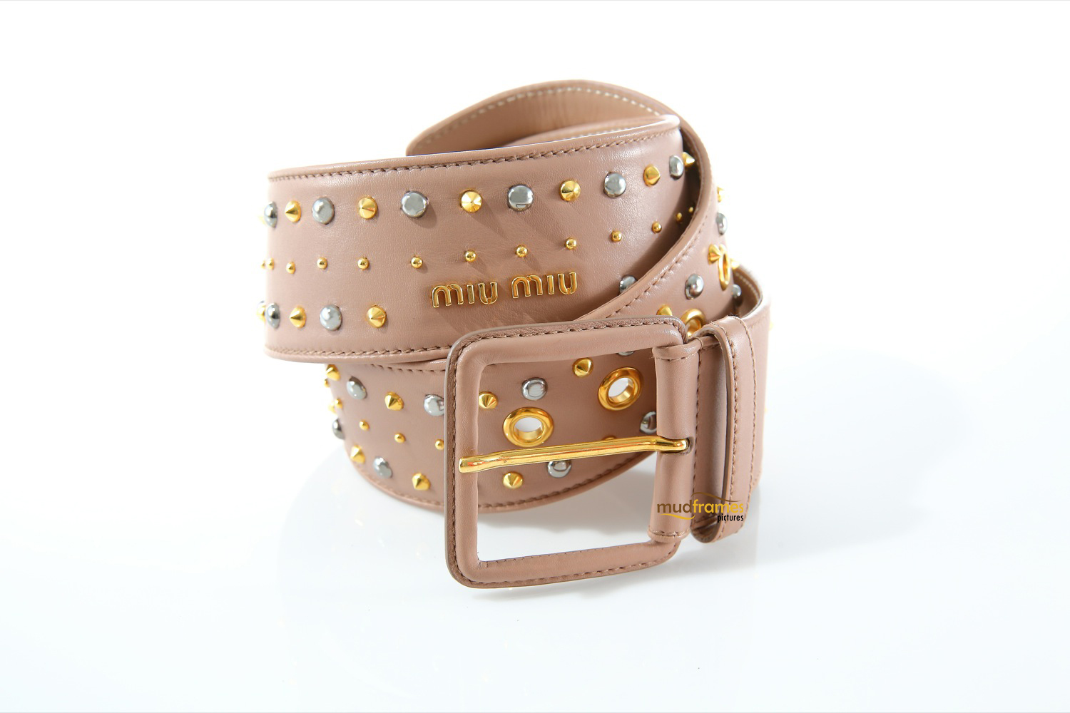 Miu Miu belt on white background