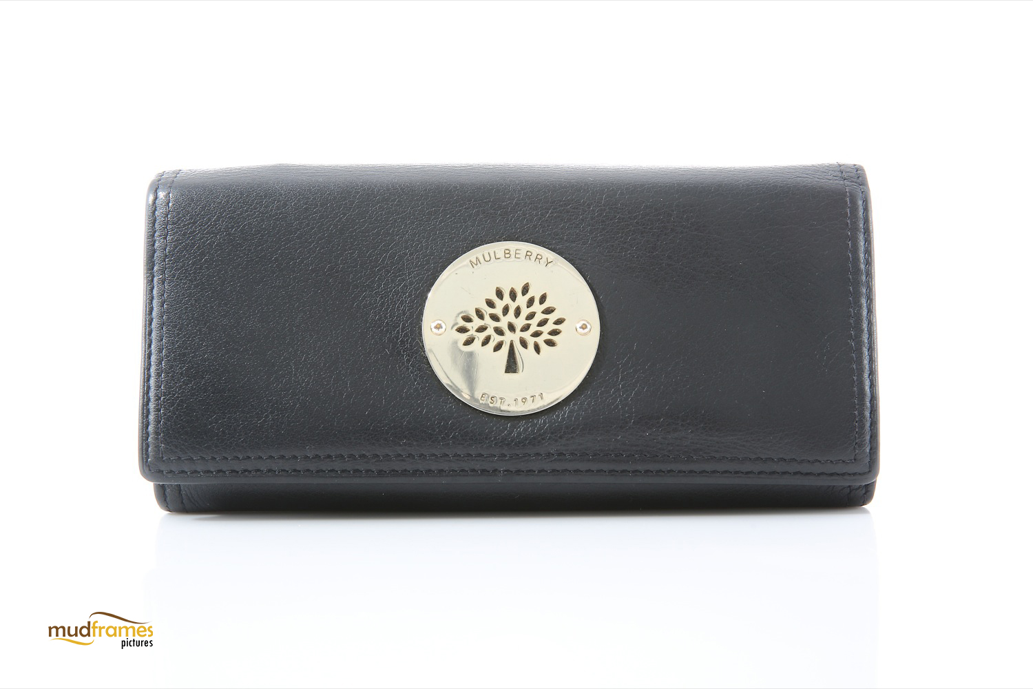 Mulberry hand purse on white background