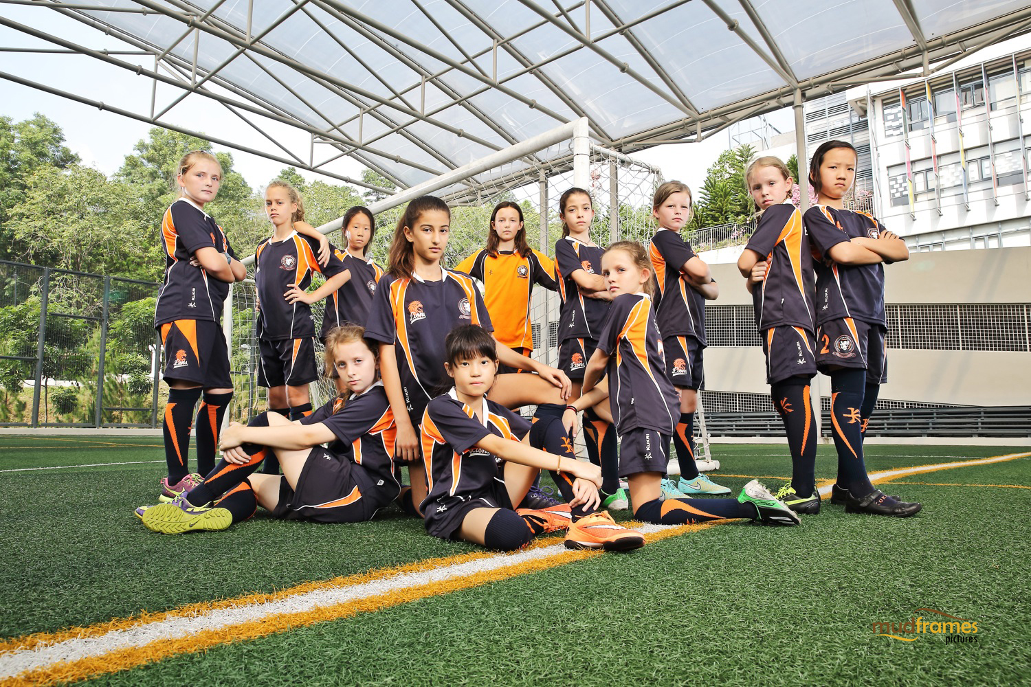 The British International School Under 11 Girls Football Team