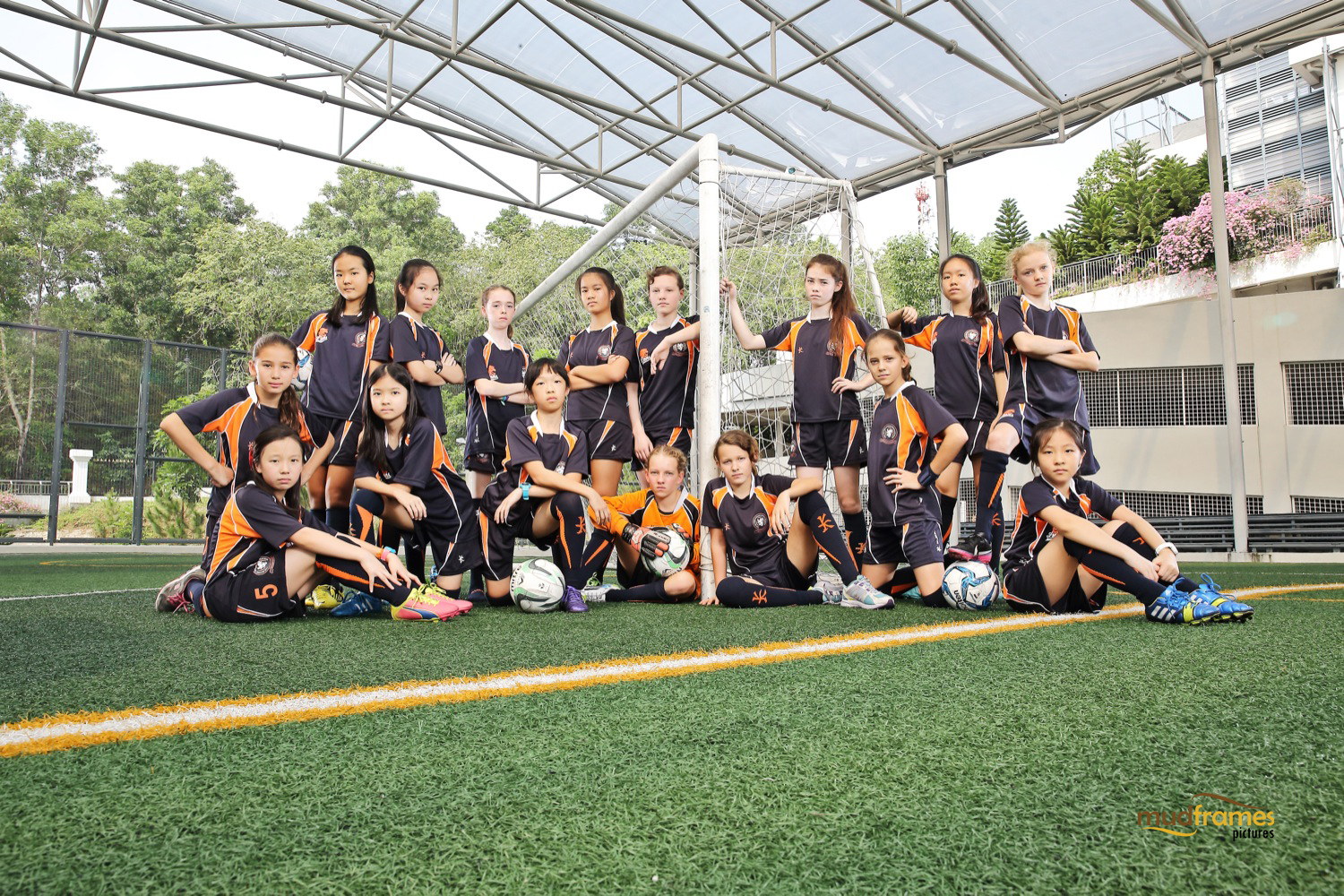The British International School Under 13 Girls Football Team