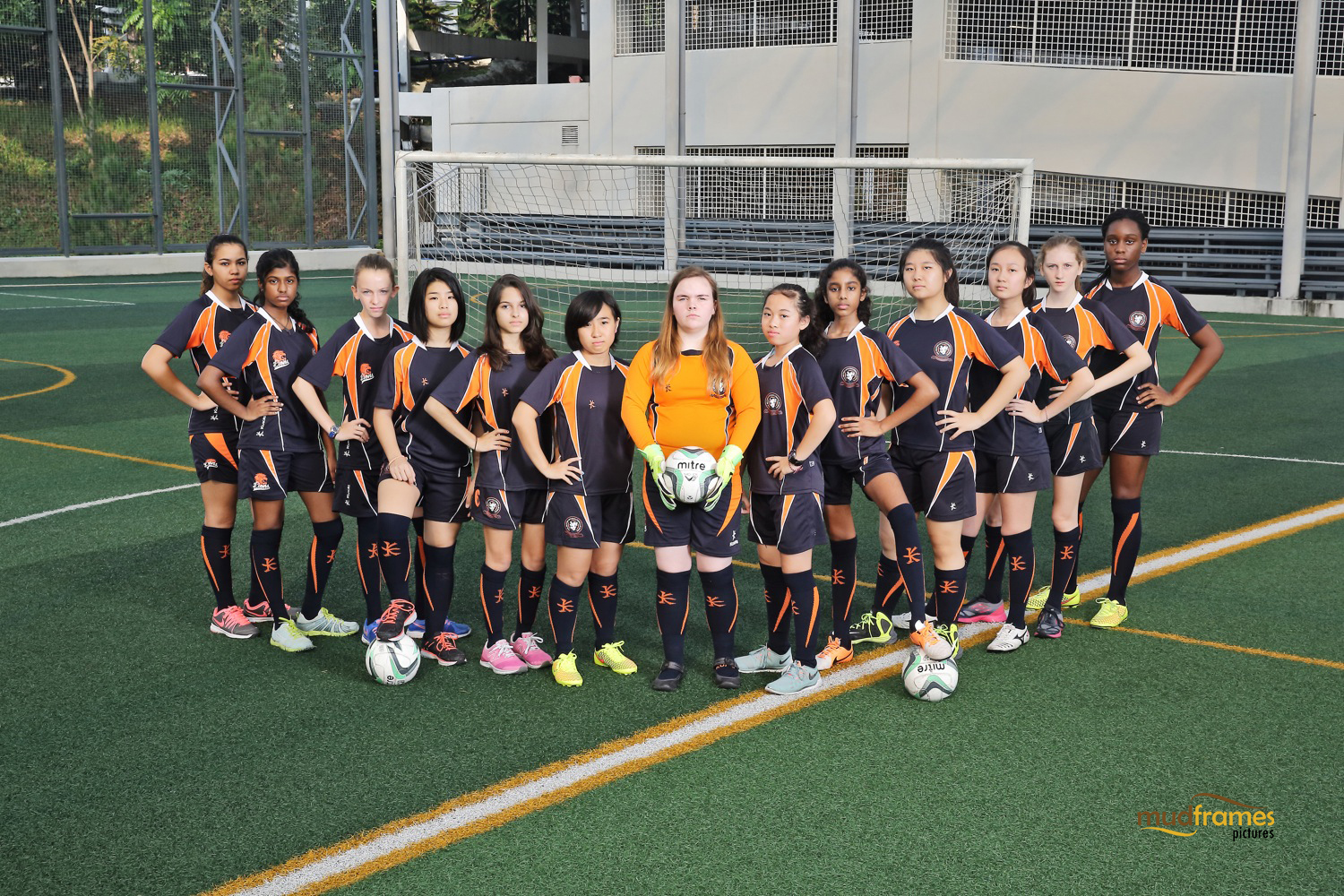 The British International School Under 15 Girls Football Team