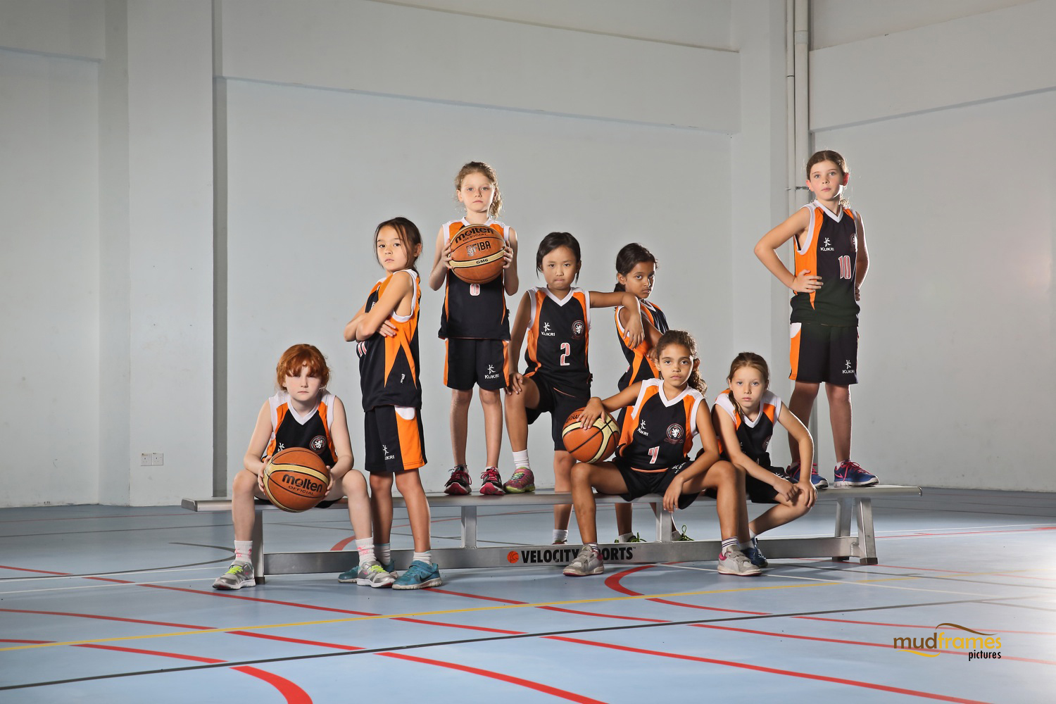 The British International School Under 9 Girls Benchball Team