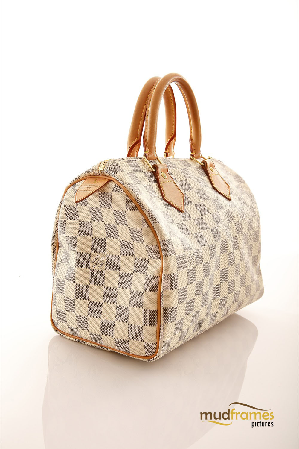 Louis Vuitton bag on white background