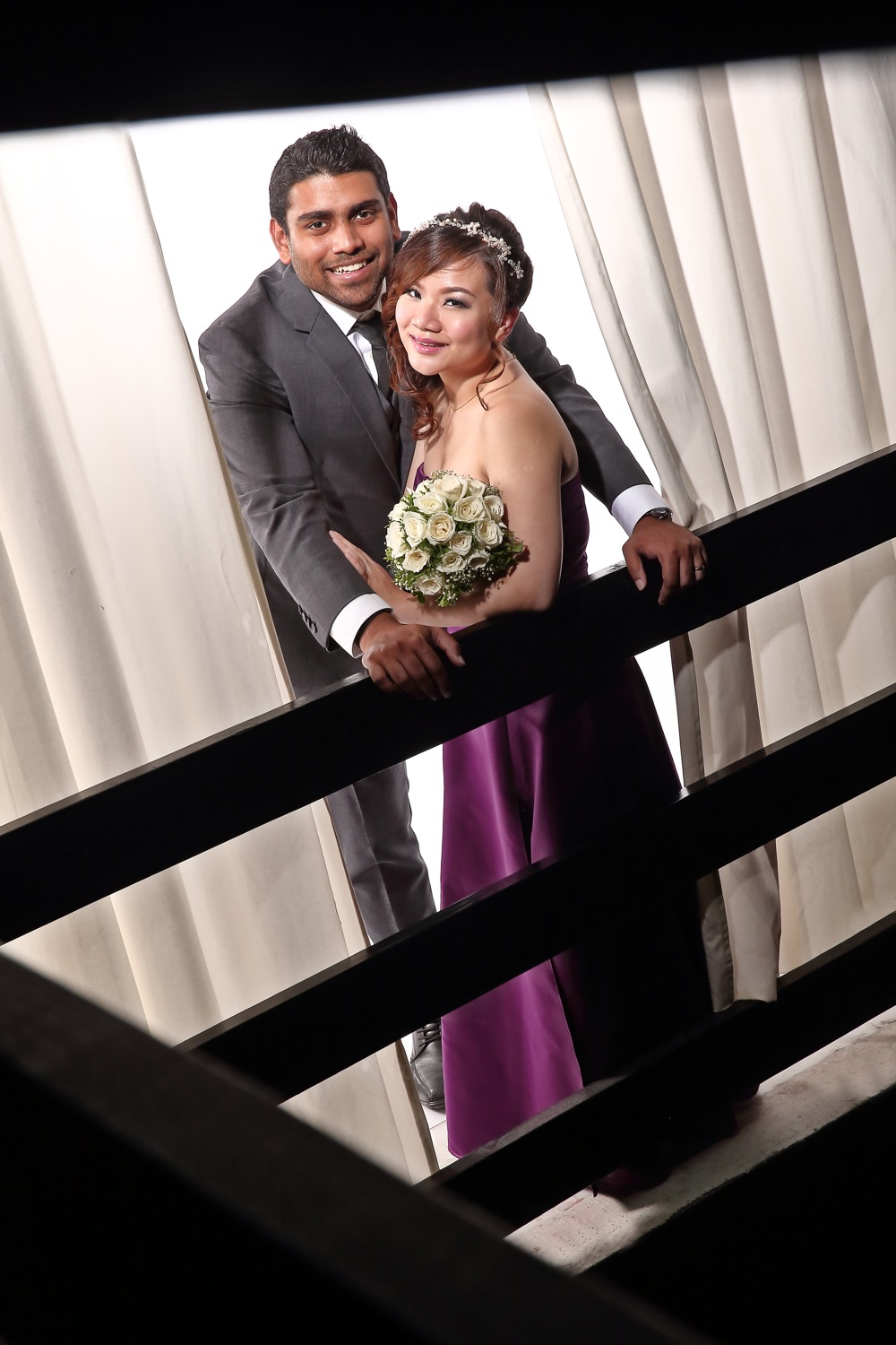 Studio wedding photography with Mudframes Pictures