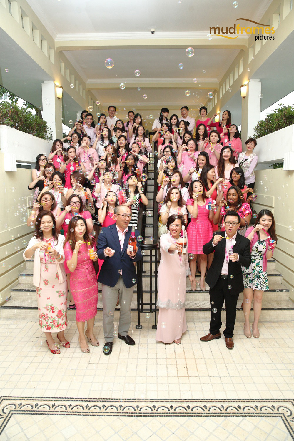 Chris Tan and Prof Datin Dr Adeeba Kamarulzaman (front middle) officiating MSD's Merck Women's Network event