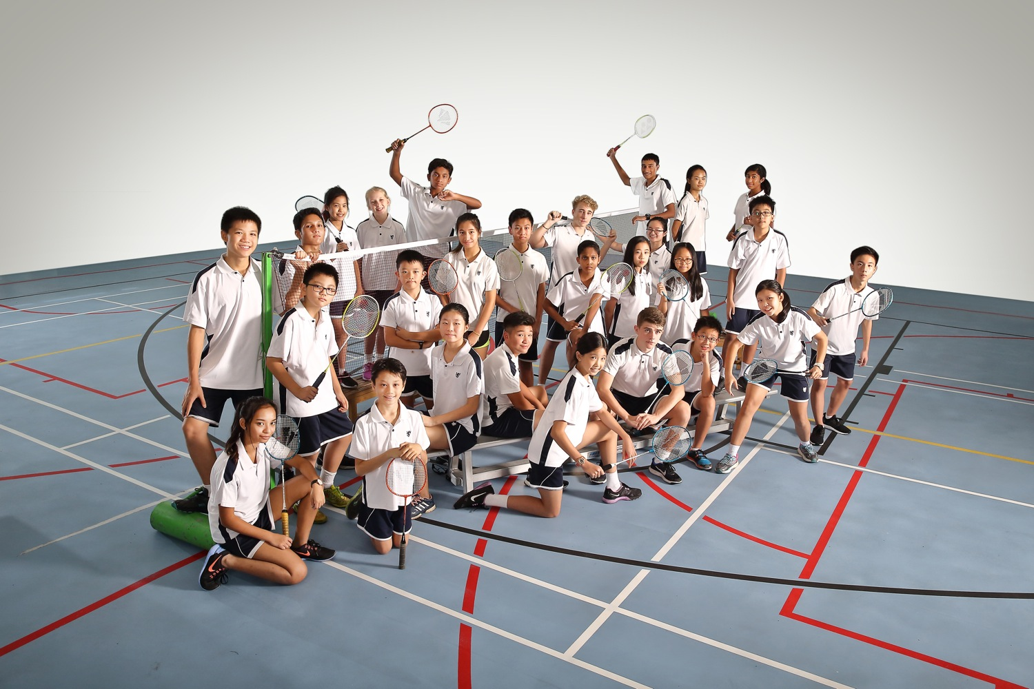 Badminton group photography of BSKL