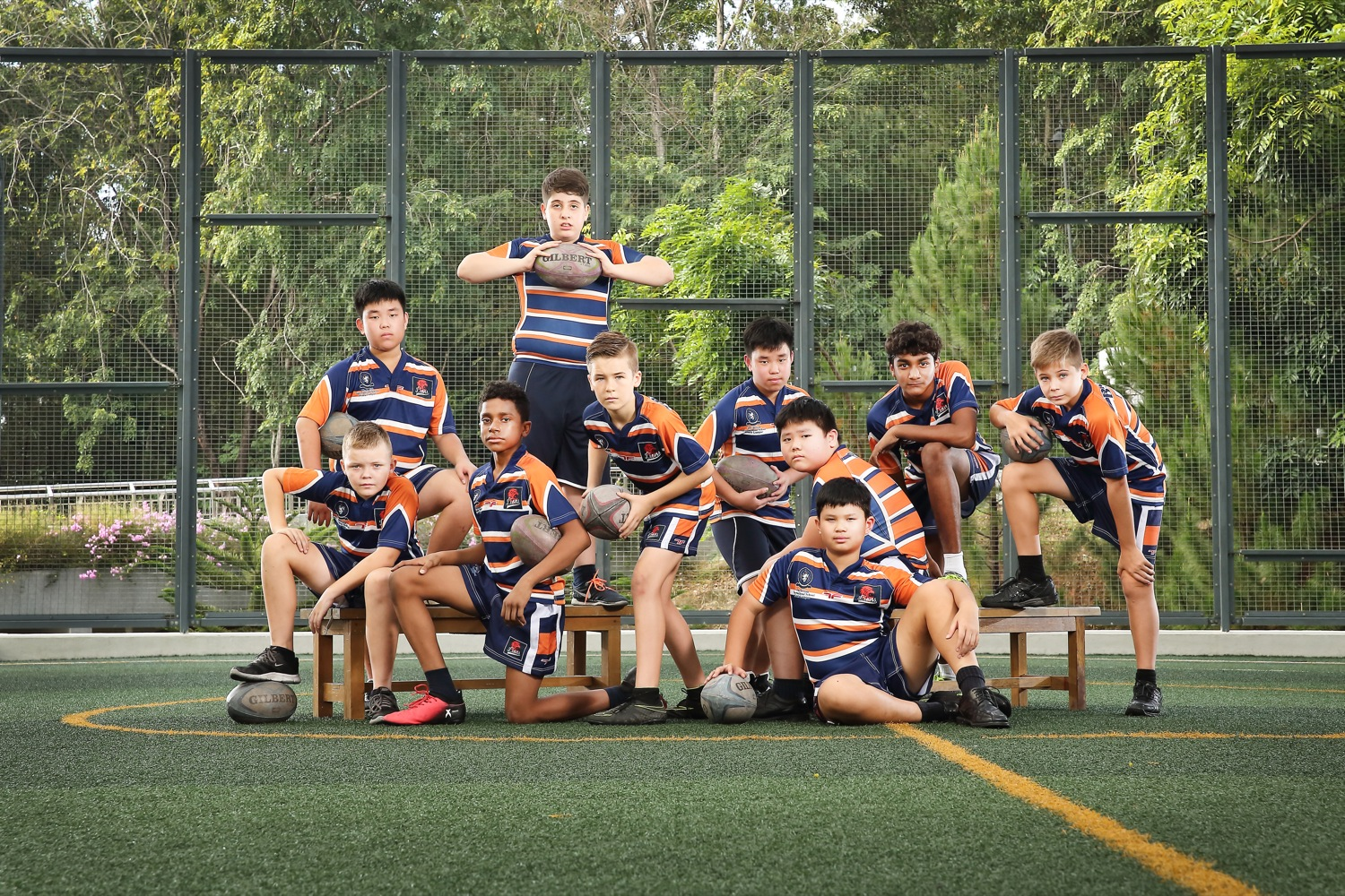 Rugby group photography of BSKL
