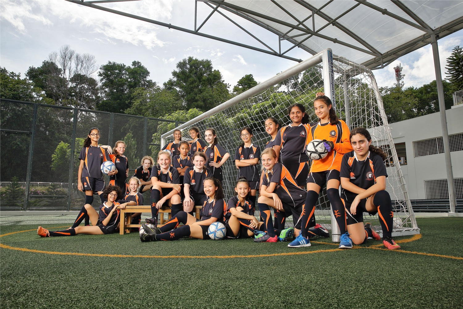 Soccer group photography of BSKL