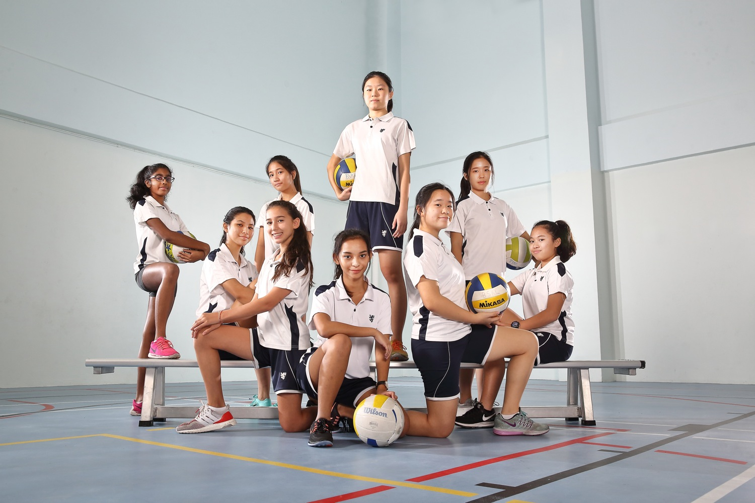 Volleyball group photography of BSKL