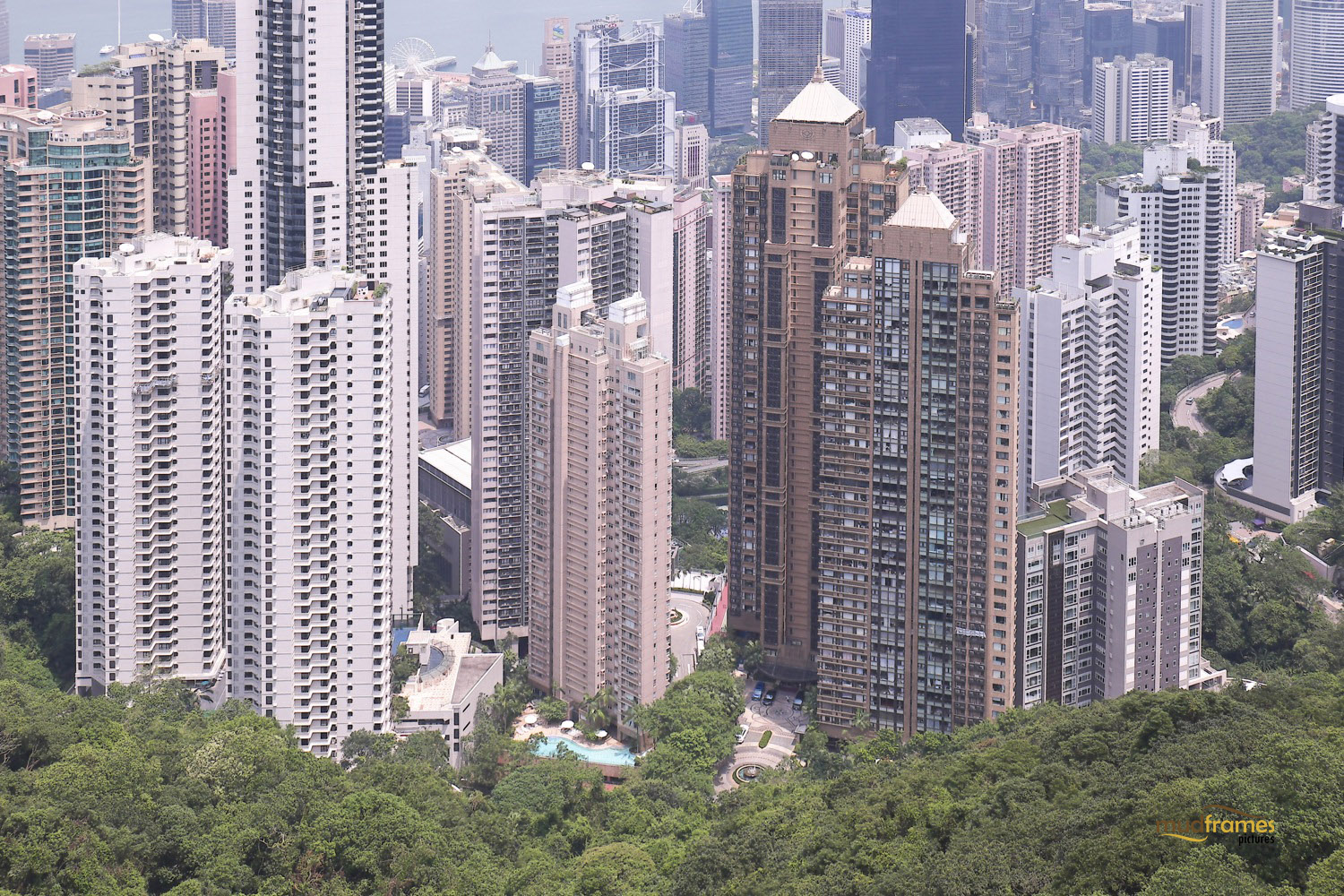 Hong Kong concrete jungle; view from Victoria Peak