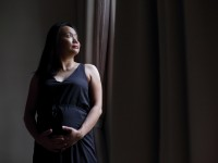 Maternity studio photo shoot with Mudframes