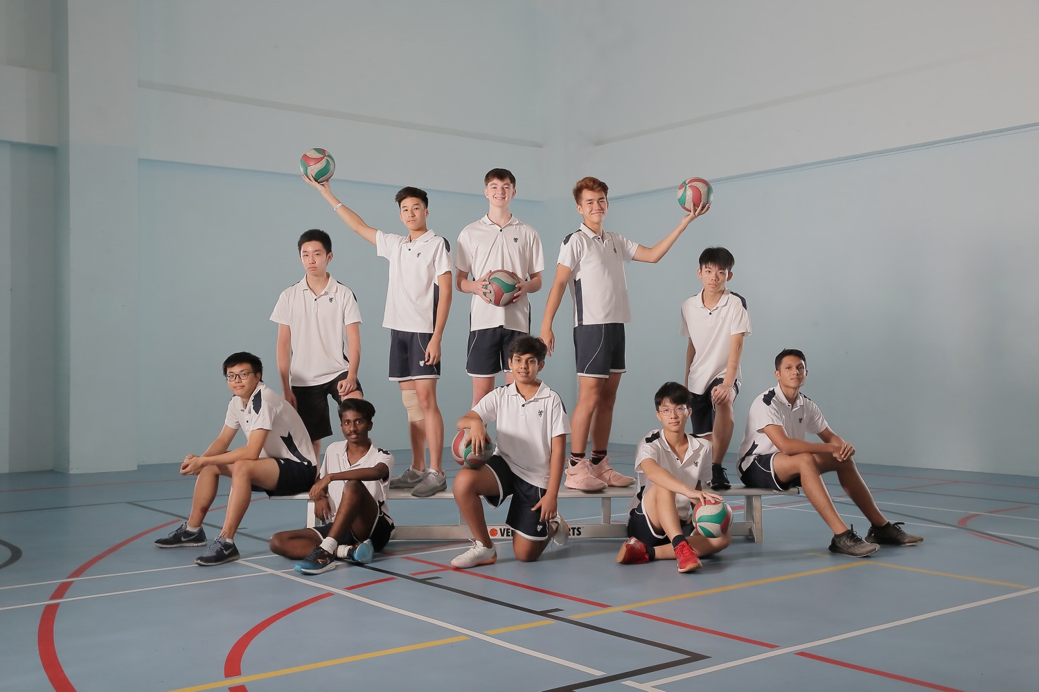 BSKL Sports Group Pose (Volleyball Team)