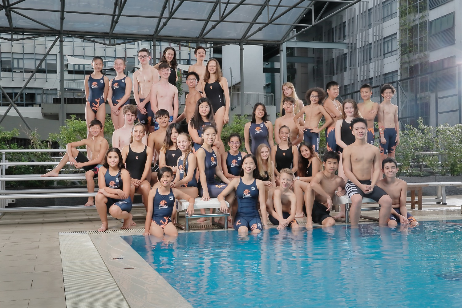 BSKL Sports Group Pose (Swim Team)