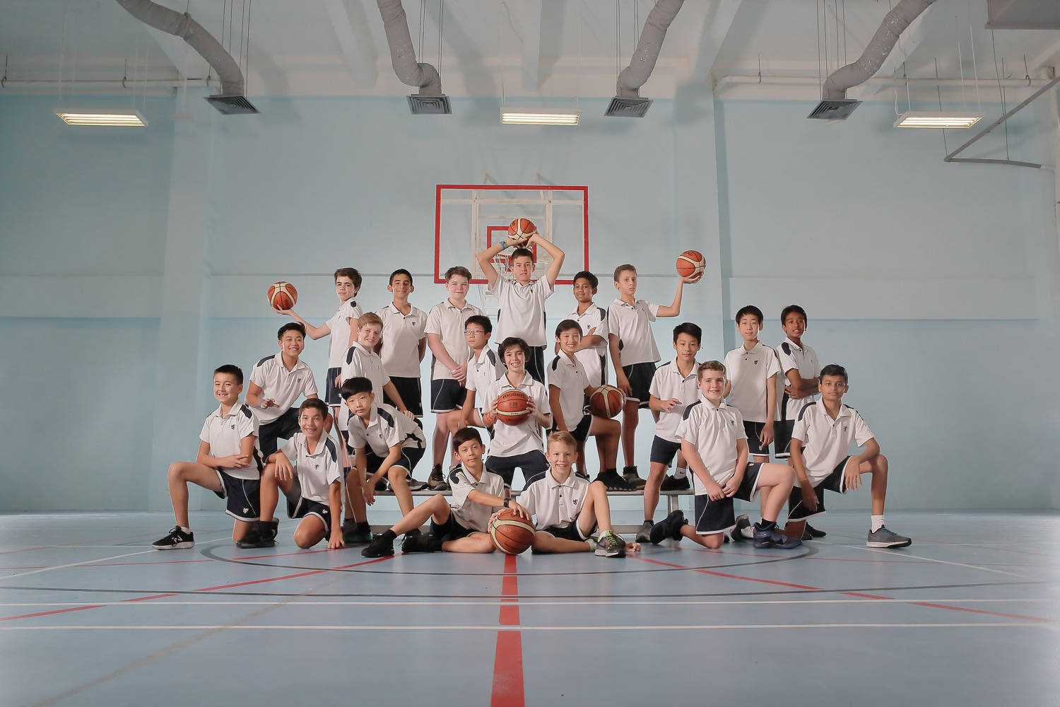 BSKL Sports Group Pose (Basketball Team)