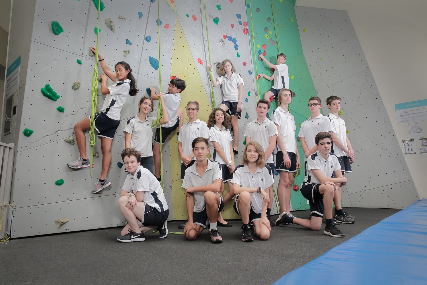 BSKL Sports Group Pose (Wall Climbing Team)